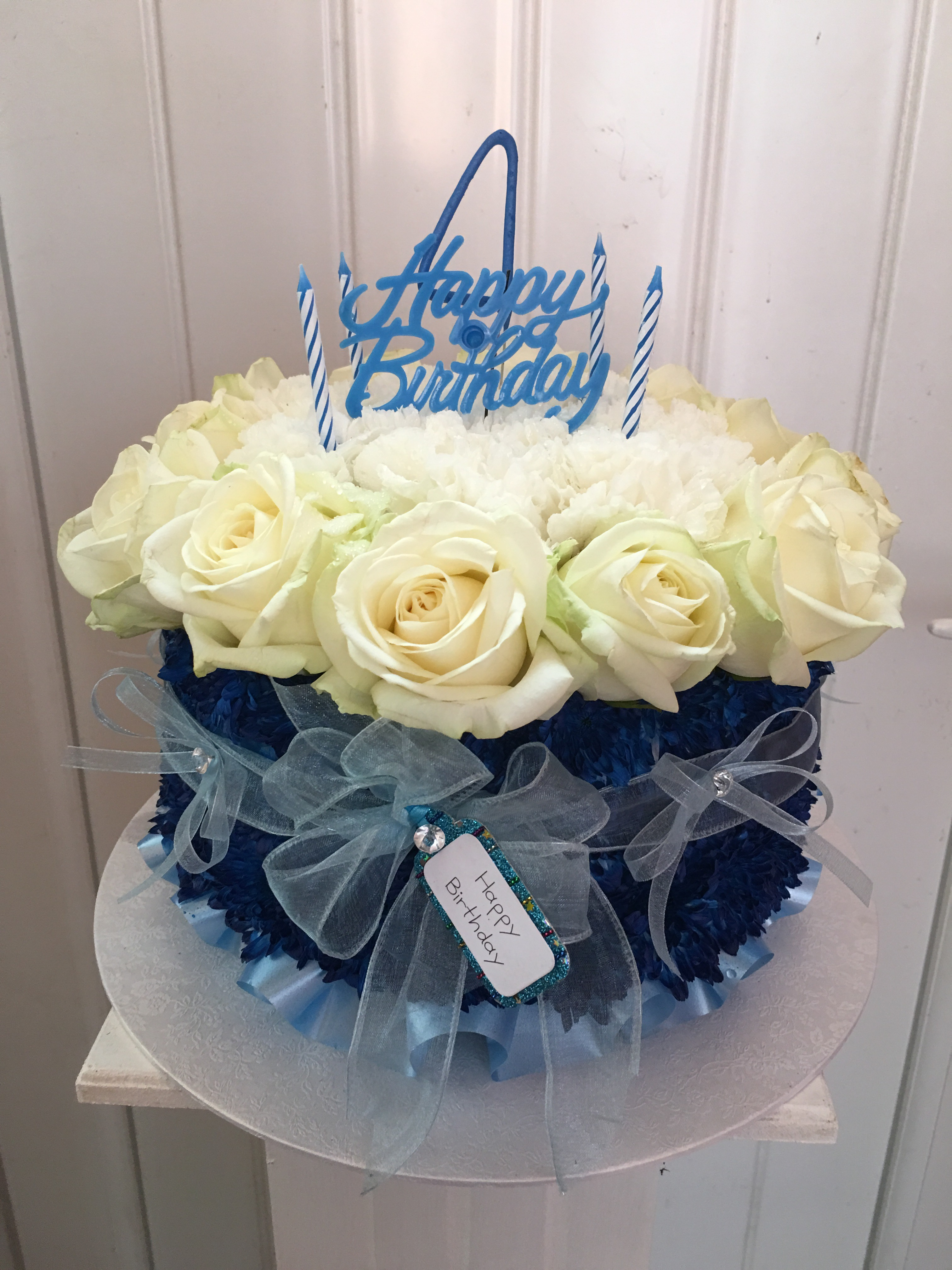 Floral birthday cakes the flower fairie a small floral birthday cake for a little boys grave its so difficult to think of a suitable tribute at these times and this was just perfect dhlflorist Images